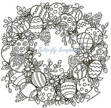 Easter Eggs & Pussywillows Wood Mounted Rubber Stamp NORTHWOODS PP9717 New