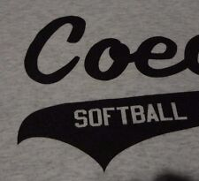 New Softball Team COED League Jersey Gray NWOT T Shirt Fast FREE Shipping Large