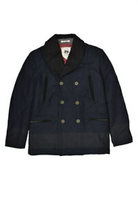 Gilded Age Mens GA4094HK Coat Relaxed Dark Navy Blue Size M