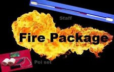 Awesome Fire twirling Package deal. Staff and Poi. Red grip Red highlights