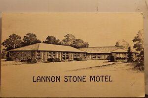 Wisconsin WI Janesville Lannon Stone Motel Postcard Old Vintage Card View Postal