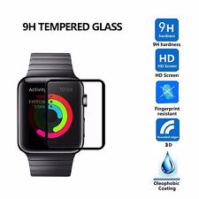 3D Full Cover Tempered Glass Screen Protector for Apple watch iwatch 38/42mm UK