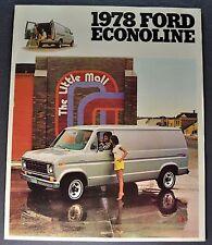 1978 Ford Econoline Truck Brochure Free Wheeling Cruising Van Chateau Original