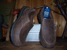 FADED GLORY MENS CASUAL SHOES SLIPPERS SIZE 7.5 BROWN MEMORY FOAM LIGHT NEW