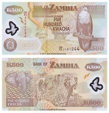 ZAMBIA 500 KWACHA 2011 Polymer UNC banconote P-43h