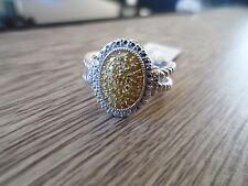 Gorgeous Genuine 1/4ct Yellow Diamond Sterling Silver Ring