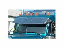 PETERBILT ULTRA CAB 2002 TO 2004 STAINLESS 14.5 DROP VISOR P-1006
