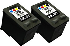 2PK FOR HP 21XL HP21XL C9351AN Deskjet F325 F310 F300 PSC 1410 1410V 1410XI 1417