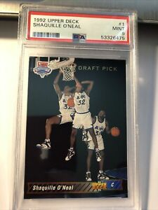 1992 Upper Deck Shaquille O'Neal #1 NBA Draft Pick SP Rookie RC PSA 9 Mint