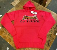 Le Tigre Hoody Pink Sweater 80's Style Solid Men's knit vintage New w Tags