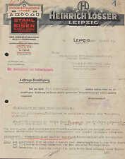 LEIPZIG, Brief 1925, Stahl und Eisen Heinrich Lösser