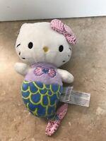 "SANRIO Hello Kitty Mermaid Ocean Plush Stuffed Animal Toy 9.5"""
