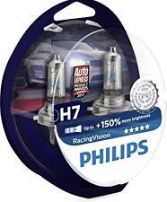 2x H7 Philips RacingVision 150% Birnen Lampen 12V 55W mit Gasfüllung 12972RVS2
