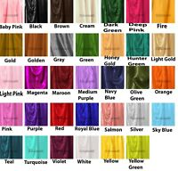 Satin  fabric By Yard From India Solid Satin Material Sewing Craft Yard