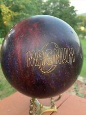 Ebonite Magnum Red Purple  Swirl Bowling Ball 14 lbs Drilled USA Made