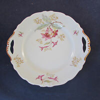 Royal Heidelberg Germany Fine China HIBISCUS Handled Cake Plate
