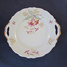 Royal Heidelberg China HIBISCUS Handled Cake Plate