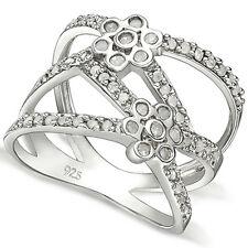 White Gold Over Sterling Silver Ring Elegant 2/5 Ctw Genuine Diamond 18K