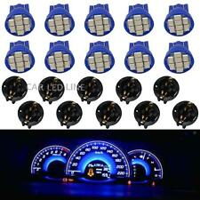 10pcs Blue T10 194 LED Bulbs Instrument Gauge Cluster Dash Light 13mm W/ Sockets