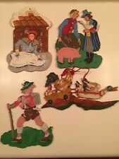 vintage folk art Europe Germany 1940's children nursery rhymes