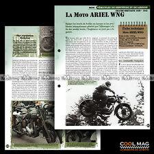 #vm071.08 ★ ARIEL 350 WNG (W/NG) 1939-45 WW2 MOTO ★ Fiche Véhicule Militaire