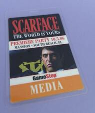 Scarface The World Is Yours Video Game Premiere Party MEDIA Pass 2006