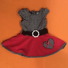 Wonder Kids Polka Dot Heart Dress Size 12m - EUC