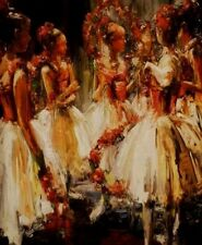 Before the Recital, By Stephen Shortridge, Hand Embossed Giclee on Canvas  HS/ N