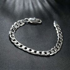 Silber Armband Herren Männer Damen Panzerkette Massiv Panzerarmband Armkette Cm