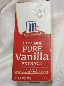 McCormick Pure Vanilla Extract 4 fl oz (118 ml) All Natural NON  GMO  SHIP FAST
