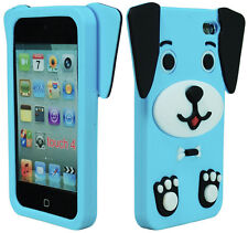 Cute Sky Blue 3D Dog Animal Silicone Case Cover for iPod Touch 4th Generation
