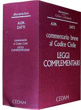 ALPA ZATTI commentario al Codice Civile Leggi complementari CEDAM 1995