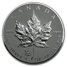 2012 1 oz Silver Canadian Maple Leaf Coin - Lunar Dragon Privy - SKU #68123