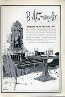 1965 B. Altman & Co PRINT AD Fashion 1960's Furniture ART