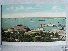 The Battery and Aquarium, New York. Unused Pre-Linen Postcard