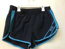 Women's Hollister Sport Navy Blue Athletic Running Inner Brief Shorts Size L