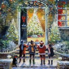 Premium Charity Christmas Cards Christmas Carollers Artistic Gloss Finish 5 Pack