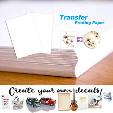 5/10/20 PCS Water Slide Decal Paper Clear A4 INKJET Waterslide Transfer Paper