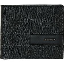 FERARRI GT 2 Note Black Leather Pockets Wallet