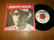 ADRIANO CELENTANO - SABATO TRISTE - IL TANGACCIO - RARE 45 USA PS / LISTEN