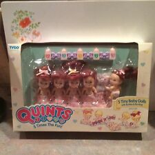 1989 TYCO Quints Dolls Red Hair with Blue Eyes With Bottles Unopened Original Bo