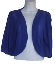 CITY CHIC Size S Dewberry Purple Chiffon Shrug Bolero Jacket NWT
