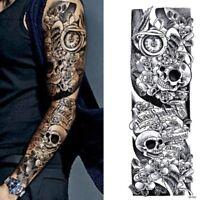 Temporäres Tattoo Totenkopf Rose Tätowierung Design Körperkunst Klebetattoo