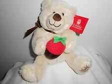 EDIBLE ARRANGEMENTS TAN CHOCOLATE COVERED STRAWBERRY TAN   PLUSH  CREAM BEAR NEW