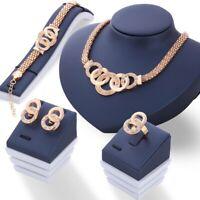 Damen Luxus Schmuckset (Kette, Armband, Ring, Ohrringe) Edel Klassisch Set Neu
