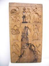 Großes seltenes Holzmodel, Backmodel, Springerlesmodel um 1810