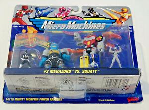 Mighty Morphin Power Rangers Micro Machines #3 Megazord Vs Squatt-Sealed w WEAR