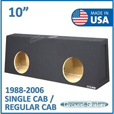 "Regular cab 10"" Dual Sealed X-Large Sub box Subwoofer Enclosure Ground Shaker"