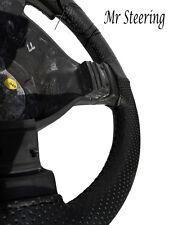 Fits VOLVO 164 100% cuir noir véritable perforé volant couvrir 1968-1975