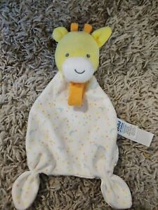 Carter's Child Of Mine Giraffe Pacifier Lovey Security Blanket Yellow GUC